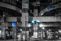 Hakozaki Junction of night view