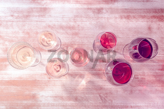 Toned wine background with a place for text