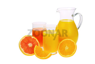Orangensaft Grapefruitsaft - orange and grapefruit juice 01