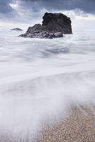 Big surf at Grenaways Beach North Cornwall.