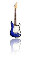 E-Gitarre mit Spiegelung, blau-schwarz