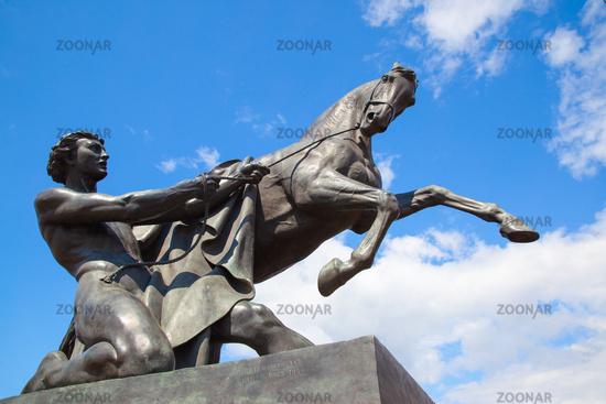 Horse tamer sculpture in Saint Petersbur