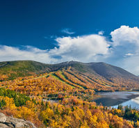 View of Echo Lake from Artist's Bluff in autumn