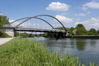 Brücke Nr. 467 ueber den Datteln-Hamm-Kanal, Luenen, Ruhrgebeit, Nordrhein-Westfalen, Deutschland