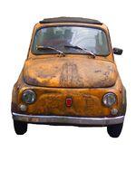 Rusted old vintage car