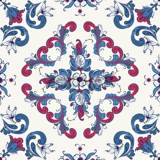 Rosemaling vector pattern 30