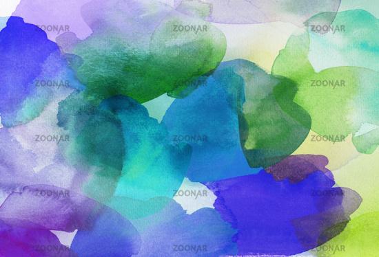 aquarell blautöne grüntöne textur verlauf