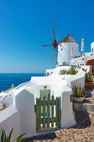 Santorini in Greece.
