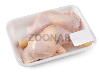Chicken drumsticks isolated