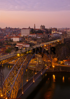 old Porto at sunset, Portugal