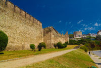 View to ancient wall and Trigoniu tower in Thessaloniki, Greece