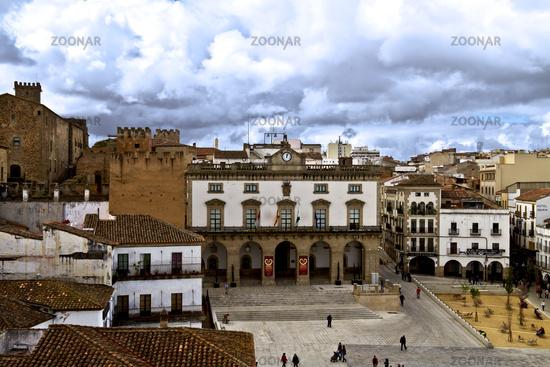 Panorama der Altstadt von Caceres