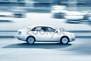 speed car drive blurred inmotion