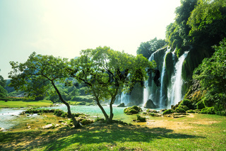 Waterfall in Vietnam