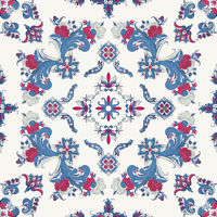 Rosemaling vector pattern 49
