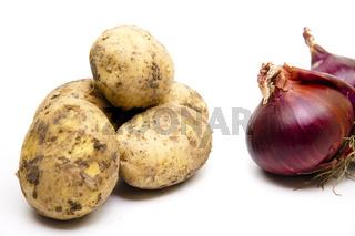 Kartoffeln mit Zwiebel