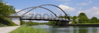 Bruecke Nr. 467 ueber den Datteln-Hamm-Kanal, Lünen, Ruhrgebiet, Nordrhein-Westfalen, Deutschland