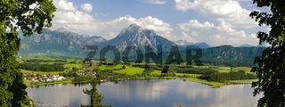 Panorama in Bayern mit Berge