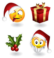 Christmas emoticons and elements