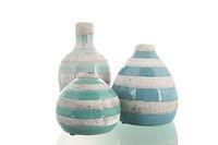 Modern green vases