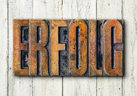 Antique letterpress wood type printing blocks - Support in german - Erfolg