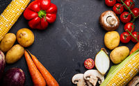 Food cooking background with ingredients