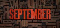 Retro letterpress wood type printing blocks - September