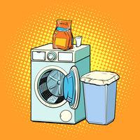 washing machine and washing powder