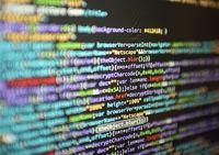 Programmier Code auf einem Screen