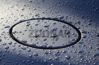 Water Drops on Car Body
