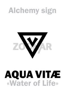 Alchemy: AQUA VITAE (Ignis aqua, Spiritus vini)