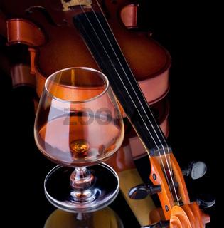 Cognac and violin