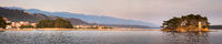 Panoramic view from the bay of Banjol on Rab Croatia