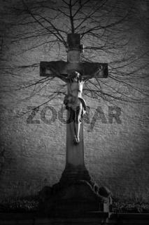 Christus am Kreuz Statue in Greven