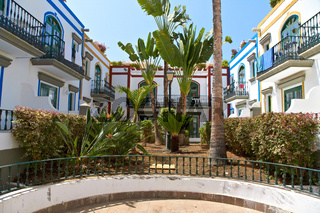 Beautiful houses in Puerto de Mogan