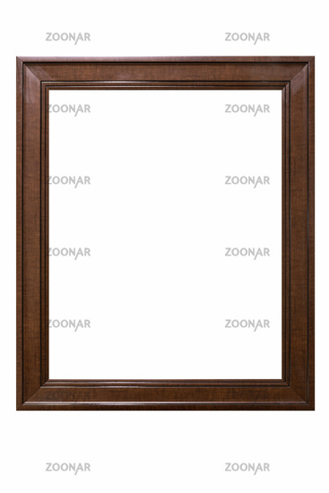 brown wood texture picture frame isolated