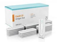 Covid-19 antigen test kit isolated on white background. 3D illustration