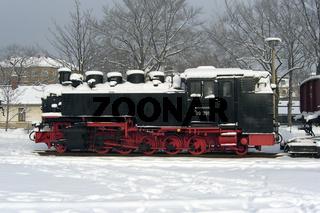 Dampflokomotive kaltgestellt
