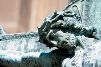 Jesusfigur Vyšehrader Friedhof Prag