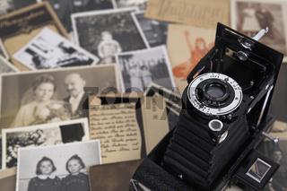 Rollfilmkamera auf Fotografien
