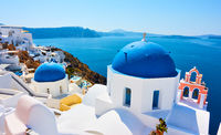Scenic view of Santorini Island in Greece