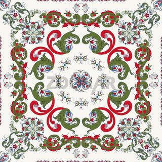 Rosemaling vector pattern 28