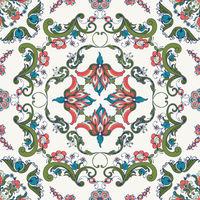 Rosemaling vector pattern 45