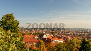 Aerial View Of Graz City Center - Graz, Styria, Austria, Europe