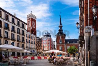 Square of Santa Cruz in historical centre of Madrid