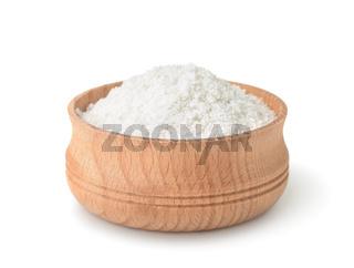 Wooden cup of salt