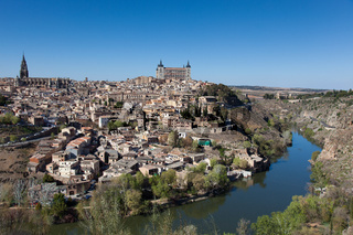 Panoramic of Toledo, Castilla la Mancha, Spain