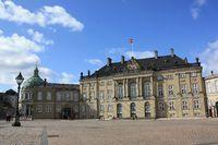 Amalienborg Slotsplads, Copenhagen Denmark