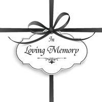 Obituary Emblem Cross Ribbon In Memory