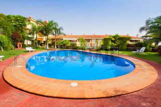 pool  in tropical garden